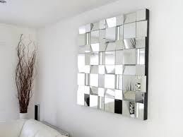 Small Picture Futuristic Abstract Wall Mirror in Modern Living Room Wall