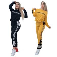 Womens Designer Sweat Suits 2019 Ff Designers Tracksuit Women Luxury Sweat Suits Autumn Brand Womens Tracksuits Jogger Suits Jacket Pants Sets Sporting Print Suit From