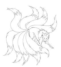 Nine Tails Coloring Pages Hashclub
