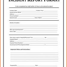 incident report example 28 incident report samples 190892600037 examples of an incident
