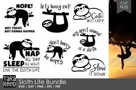 Sloth svg free vector we have about (84,995 files) free vector in ai, eps, cdr, svg vector illustration graphic art design format. Sloth Life Bundle 85481 Cut Files Design Bundles