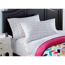 your zone bright chevron bed in a bag bedding set  walmartcom