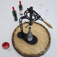 standing wine opener. 3d Models: Other Kitchen Accessories - VINTNERS STANDING WINE OPENER Pottery Barn Standing Wine Opener