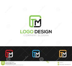 Online Letter Template Tm Letter Logo Template Online Store Vectors Illustration