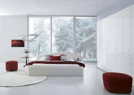 Furniture: Adorable White Bedroom Furniture Ideas With Dark Red ...