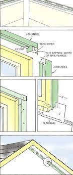 install j channels at doors and windows