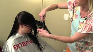 How Todo Hair Style how to do a vcut v cut layering on womens hair youtube 4334 by wearticles.com