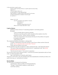 Outline 2 Page Final Paper Cogsci 200 Introduction To Cognitive
