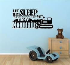 let him sleep vinyl decal wall stickers