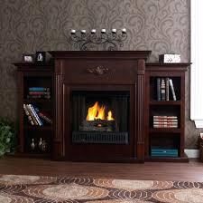 fireplace fireglo gel fuel fireplace espresso w bookcases very friendly hearth stone