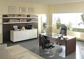 office decorating tips. Add White Document Cabinet And Floating Bookshelves Facing Wooden Desk In Wide Office Decorating Ideas Tips E