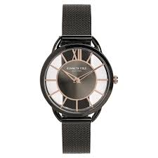 kenneth cole grey round dial metal strap og watches for women kc50537005ld at best in india titan co in titan