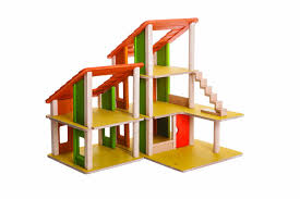 plan toys chalet dollhouse without furniture  free shipping