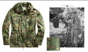 camo and palm tree print hooded jacket
