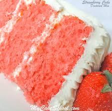 Strawberry Cake Doctored Cake Mix Recipe My Cake School