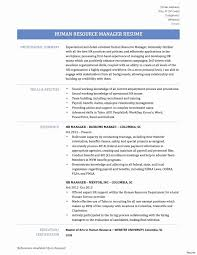 Resume Sample For Human Resource Position Human Resources Manager Resume Sample Elegant Hr Manager Resume 5