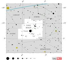 Canis Minor Star Map Star Chart Location Procyon Coordinates