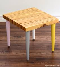 Tapered Coffee Table Legs Wood Shim Side Table With Tapered Mid Century Modern Legs Diy