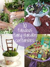 unique fairy garden containers