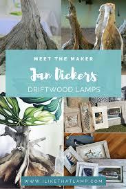 Meet the Maker: Jan Dickers' Driftwood Lamps' Designer