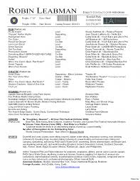 Actors Resume Wonderful Actors Resume Theatre Sample Cover Letter Acting Free 60