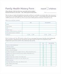 medical health history form patient medical history form template family medical history form