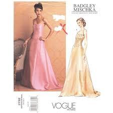 Halter Gown Designs Vogue 2732 Badgley Mischka Halter Dress Pattern Wedding Dress