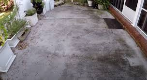 how to clean a concrete patio without a