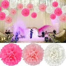 Homemade Paper Flower Decorations Amazon Com 18pcs Tissue Hanging Paper Pom Poms Hmxpls Flower Ball