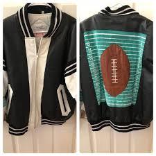 vintage michael hoban leather football jacket