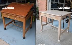 Diy wooden furniture Legs When Should You Not Paint Wood Furniture Stripped And Natural Drafting Table Makeover Thrift Diving When Should You Not Paint Wood Furniture