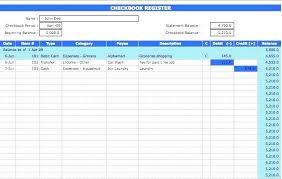 Checkbook Balance Sheet Template Register Excel Large Check New