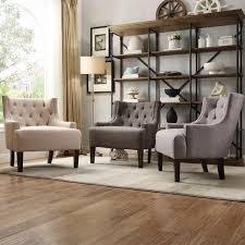 light living room furniture. Tribecca Home Tess Wingback Tufted Linen Upholstered Club Chair Living Room Furniture From Walmart Light T