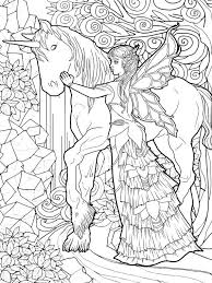 Magical Unicorns And Fairies Adult Coloring Book Unicorn Coloring