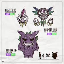 Dream Catcher Pokemon Made my own Alola's Gastly Haunter and Gengar version pokemon 23