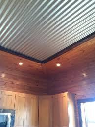 corrugated metal ceiling rustic kitchen inspiration corrugated metal interior