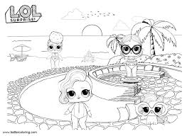 Lol Pets Coloring Pages Dolls With Pet Free Printable Coloring Pages