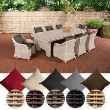 Clp Poly Rattan Garten Sitzgruppe Candela Xl 8 Stühle Esstisch Ca