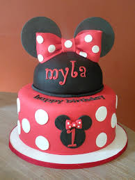 1st Birthday Minnie Mouse Cake Classic Style Cute Minnie Mouse