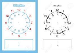Time Clock Chart Teaching Time Chart Telling The Time For Teacher Chart For Teaching