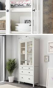 hemnes glass door cabinet with 3