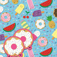Summer Gift Tags Fruits And Sweets Summer Gift Wrap 2 Sheets 2 Gift Tags