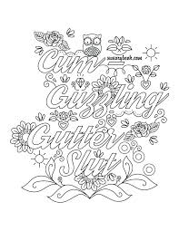 Free Printable Swear Word Coloring Pages Pdf Coloring Games Movie