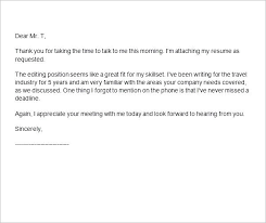 How To Follow Up After Interview Thank You Letter Email Format An