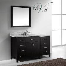 left sink vanity. Wonderful Vanity Virtu USA Caroline Parkway Single 564Inch LeftSided Transitional Bathroom  Vanity With Mirror  Espresso For Left Sink T