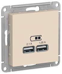 <b>USB розетка Schneider</b> Electric AtlasDesign ATN000233,5А ...