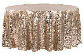 glitz sequins 108 round tablecloth champagne