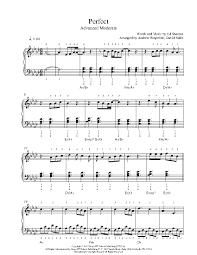 ed sheeran sheet music perfect by ed sheeran piano sheet music advanced level