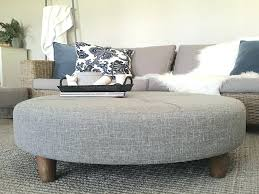 cool large round tufted ottoman round ottoman coffee table inspirational large grey tufted ottoman round fabric