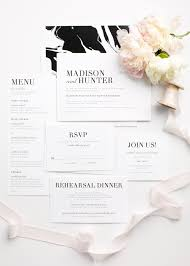 Urban Glamour Wedding Invitations With A Black And White Marble Envelope Liner